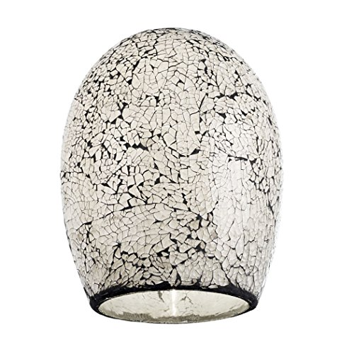 Endon Non-electric lamp shade in white mosaic (NE-WINDSOR-WH, shade only)