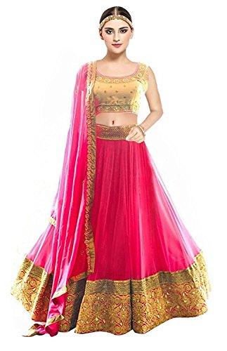 066db50286 60% OFF on Morang Women's Stylish Pink Color Net Embroidered Party Wear  Lehenga Choli on Amazon | PaisaWapas.com