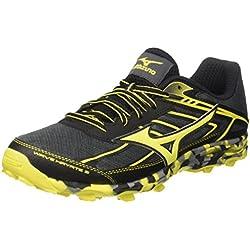 Mizuno Wave Hayate, Zapatillas de Running para Hombre, Multicolor (Dark Shadow/Bolt/Black), 46 EU