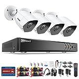 ANNKE Videoüberwachung Set H.264+ Überwachungssystem, 8CH 3.0MP 5 in 1 HD DVR Recorder + 4 * 3MP Bullet Überwachungskameras, Bewegungsmelder, Playback, IR Nachtsicht für Innen und Außen(Ohne HDD)
