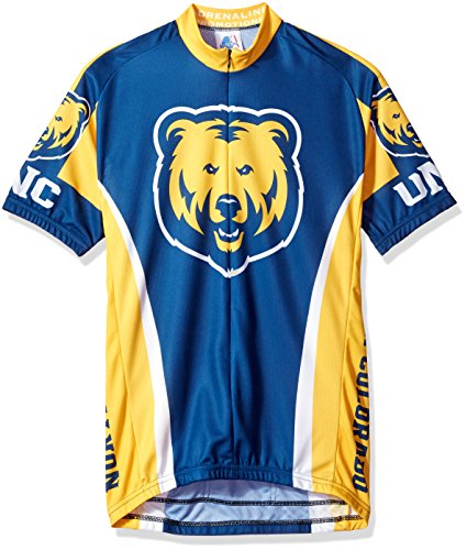 NCAA Northern Colorado University Herren 's Road Jersey, herren, Road Jersey, blau / gelb, Small