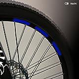 Motoking Fahrrad-Reflektorenaufkleber mit Waben-Reflex-Optik - Blau - 22 Aufkleber im