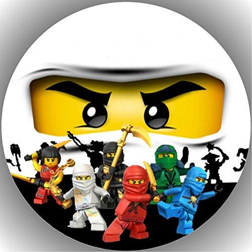 Fondant Tortenaufleger Tortenbild Geburtstag Ninjago T20 (Lego-geburtstag-kuchen-dekorationen)