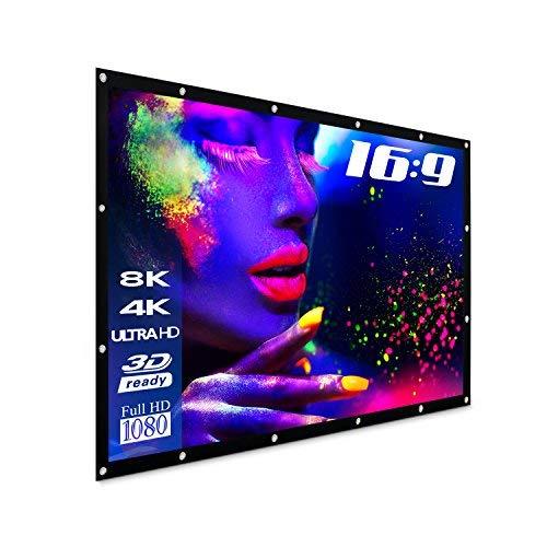 "eSmart Germany Spann-Leinwand SPANMI [Größenauswahl] 332 x 187 cm (150"") 16:9 | Vollmaskierung | Heimkino Beamer Projektionsleinwand Outdoor Leinwand LCD LED"