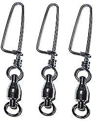 JSHANMEI® 10/20PCS Roulement à Billes Emerillon Avec Agrafe Arqué Accessoires pour Pêche High Strength Ball Bearing Swivels
