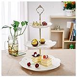 Etagere, Malacasa, Serie Sweet.Time, 6/8/10,5 Zoll Dessert Display, Cupcake Ständer, Porzellan 3-stöckig...