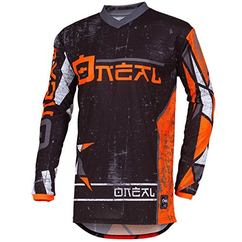 O\'Neal Element Zen Motocross Jersey MX Enduro MTB DH Cross Trikot Mountain Bike Gelände, 001E-0Adult, Farbe Orange, Größe XL