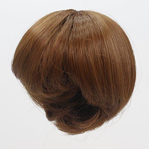 Gazechimp 1 Stück Kurze Puppe Haar, Bob Perücke Für 18'' American Girl Puppen DIY Making Up Zubehör - Braun, Länge: 14cm (Kurze Stück Ein)