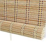 Estores de bambú Cortinas enrollables de bambú Natural con Cenefa, persianas enrollables parasoles para Jardines de jardín, 60% filtrado de luz (Tamaño : 120×180cm)
