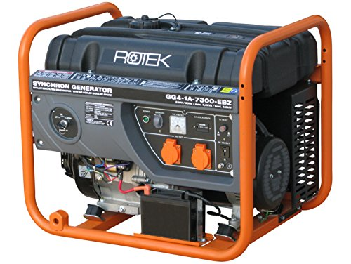 Rotek Benzin Stromerzeuger GG4-1A-7300-EBZ (7,3 kVA / 6,3kW 230V 50Hz 1-phasig)