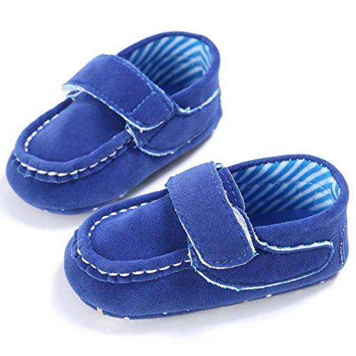 BZLine® Baby Komfort schlüpfen Schuhe weichen Prewalker Anti-Rutsch-Schuhe Shoes Blau