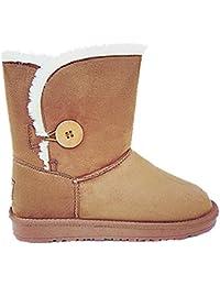 Femme Fille Botte Boots Bottine Chaussure fourrées fur Plat Talon 5803 CAMEL f08366c2c937
