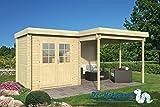 28 mm Gartenhaus Tyra ca. 300+298x250+150 cm