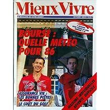 MIEUX VIVRE [No 74] du 01/10/1985 - LA BOURSE - ASSURANCE VIE - LECOUT DU GOLF - MAISONS INDIVIDUELLES - ERVENTE DIFFICILE.