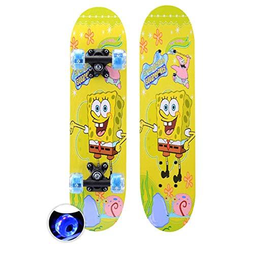rd Komplett Longboard Double Kick Skateboard Cruiser 8 Lagen Ahorn Deck für Extremsport und Outdoor, 3,60cm ()