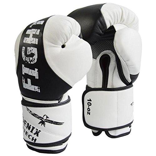 Phoenix Boxhandschuhe aus Leder mit Innenbelüftung für Herren und Damen | Boxen - MMA - Kickboxen, | für Training und Sparring (16 Uz)