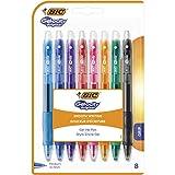BIC Gel-ocity Original Penne Gel A Scatto Con Punta Media (0,7 mm) - Colori Assortiti, Confezione Da 16