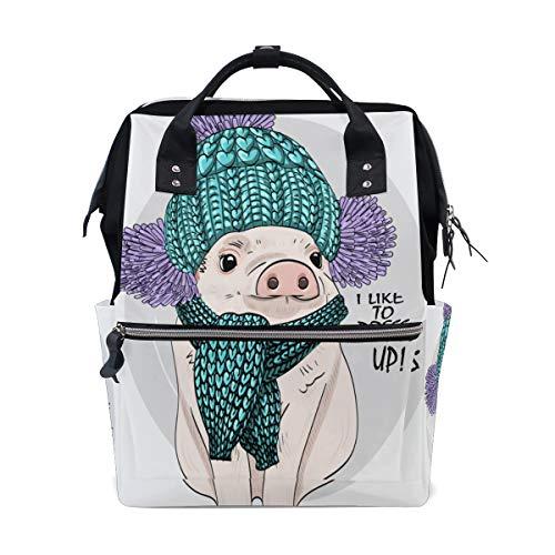 946272ba93d77 Cute Pig Wear Bunte Schal Große Kapazität Windel Taschen Mummy Rucksack  Multi Funktionen Wickeltasche Tasche Tote