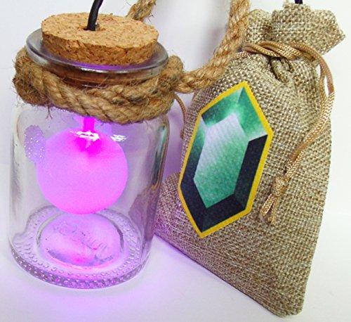 HEY LISTEN! Link Cosplay Fee in Flasche mit LED PINK und Rubinbeutel