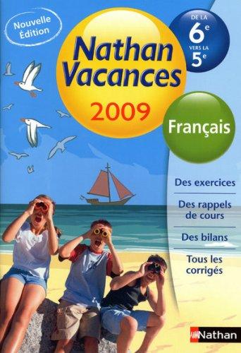 Français de la 6e vers la 5e Nathan vacances