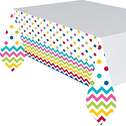 571492-901.37X 2,6m Rainbow Chevron Kunststoff Tisch Cover ()