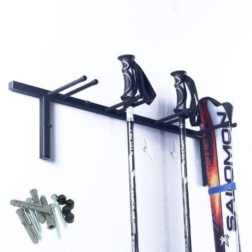 Skihalter für 4 Paar Ski Skiträger Skistöcke Nordic Walking Stöcke Wandhalter Ski Gerätehalter