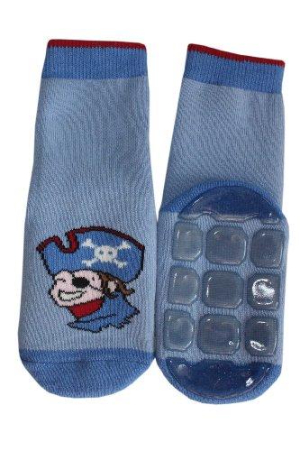 Weri Spezials Ein lustiger Pirat-eine tolle ABS Socke! in Mittelblau, Gr.27-30 (5-6 Jahre)