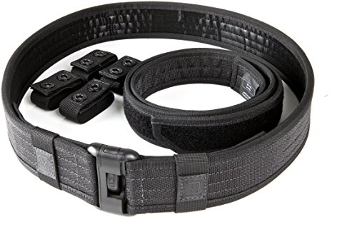 5.11 Sierra Bravo Duty Belt 5cm Standard, Schwarz, 4XL (Duty Belt Gear)