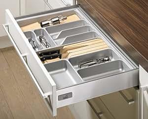 Hettich coulissant de tiroir range couvert innotech - Organisateur tiroir cuisine ...