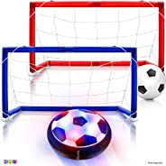Play22 Hover Soccer Ball Set with 2 Goals - Includes Air Hover Ball with Foam Protector and Inflatable Ball wi