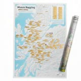 Munro Bagging Collect and Scratch Print - Poster for Walkers Climbers - 59.4 (w) x 84.1 (h) cm