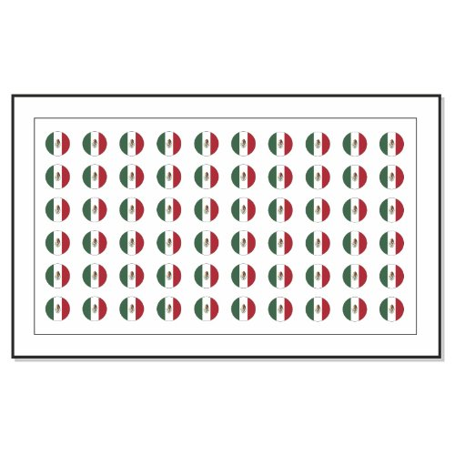 60 drapeau du Mexique Les autocollants de tatouage d'art d'ongle de transfert