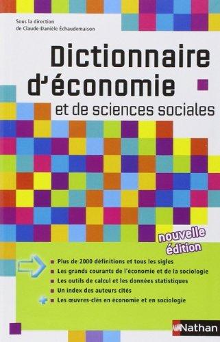 Dictionnaire d'économie et de sciences sociales de Claude-Danièle Echaudemaison (Sous la direction de) (6 juin 2013) Broché
