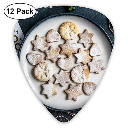 Clear Christmas Cookies On Plate Guitar Picks - 12 pack,0.46/0.73/0.96 Mm Guitar Clear Plate Stand