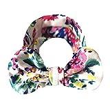 Lazzboy Mädchen Baby Kleinkind Turban Floral Stirnband Haarband Bow Zubehör Headwear Elastische Blume Gedruckt Stirnbänder, Baumwolle Weiche Turban-Kopf-Verpackungs(D)
