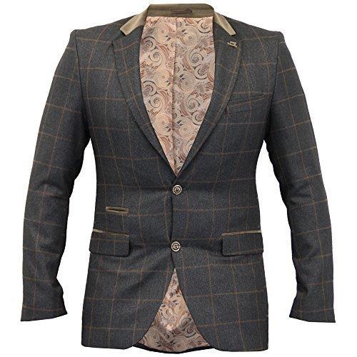 herren-kariert-blazer-fischgratenmuster-tweed-jacke-mantel-velvet-patch-formelle-winter-braun-joshch