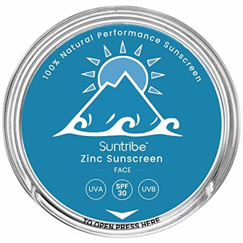 Suntribe (100ml = 43.30EUR) Face Zinc Sunscreen Sonnencreme SPF 30/30ml