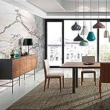 M-034 Esszimmer-Set, modern, Farbe Nussbaum und Grau lackiert Singapur