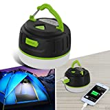 LAOPAO Portable LED Camping Rechargeable 5200mAh Power Bank IP65 Waterproof for Camping, Hiking, Fishing, Emergency