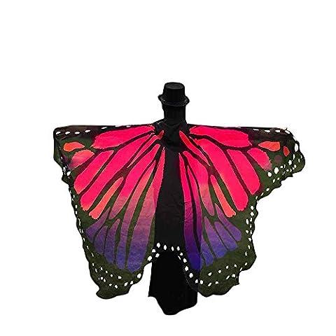 Echarpes Covermason Tissu doux papillon ailes châle fée Mesdames nymphe Pixie accessoire de Costume 197 * 125CM