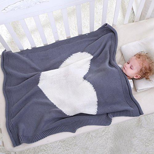 Gazechimp Weiche Strickdecke Schlafen Swaddle Wrap Für Kleinkind Baby - Schwarz, wie beschrieben