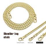 Correa de cadena de metal - repuesto para bolso/bolso/bolsa cruzada o bolso de hombro, ajustable 120 cm (dorado -tipo 3)