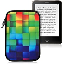 "kwmobile Funda Sleeve de Neopreno para Tablet para Tablet / eReader (M - 7,8"") - Bolsa E-Reader funda protectora con Diseño arco iris dado Tablet estuche funda"