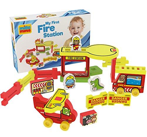 Fire Station - Spielzeug ab 1 Jahr - Kleinkind Spielzeug für Zuhause, Draußen, Sandkasten und Wasser - Feuerwehrhaus ()