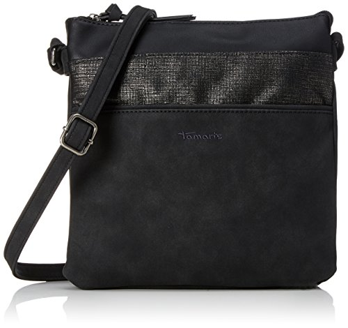 Tamaris Damen Khema Crossbody Bag Umhängetasche, (Black Comb.), 2x24x25 cm