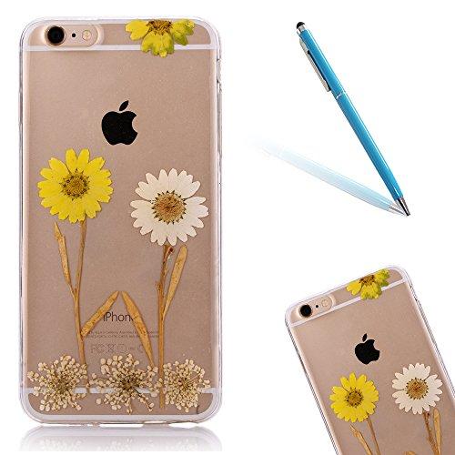 """iPhone 6s Schutzhülle, iPhone 6 Soft TPU Handytasche, CLTPY Modisch Durchsichtige Rückschale im Getrocknete Blumenart, [Stoßdämpfung] & [Kratzfeste] Full Body Case für 4.7"""" Apple iPhone 6/6s + 1 Stylu Floral 7"""