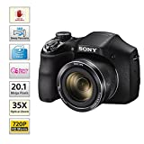 Sony Cyber-shot DSC-H300/BC E32 point & Shoot Digital camera (Black)35x optical zoom with Power charger, Memory Card & Camera Case