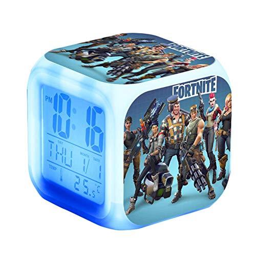 iBaste Despertador LED Cambio de color Wake Up Dormitorio con datos y indicador de temperatura