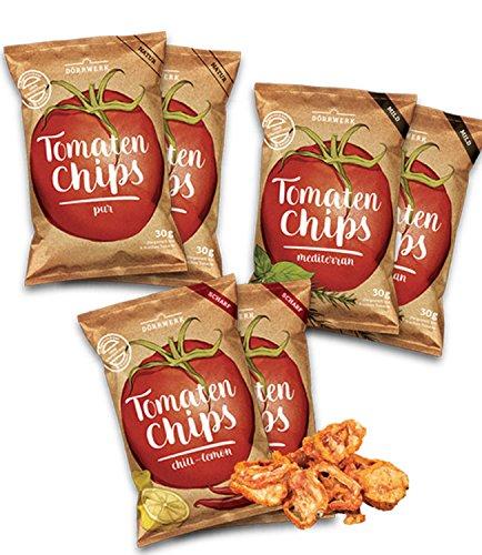 Tomaten Gemüse Chips 6er Set (6x 30g) - lecker gewürzt - 16,50 EUR