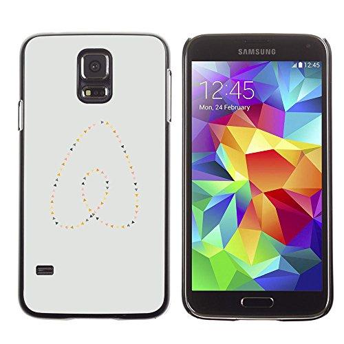 GooooStore/Dura Custodia Rigida della copertura della cassa - Heart Pearls Gold Blue Minimalist - Samsung Galaxy S5 SM-G900 - Blue Pearl Gt